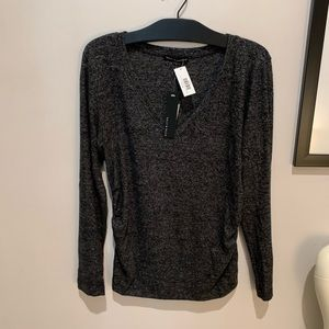 Nally and Millie V Neck Ruch Side Top